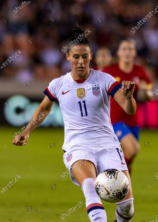 United States defender Ali Krieger (11) in the second half during the CONCACAF Group A Women's Olympic Qualifying match against the Costa Rica at BBVA Stadium in Houston, Texas