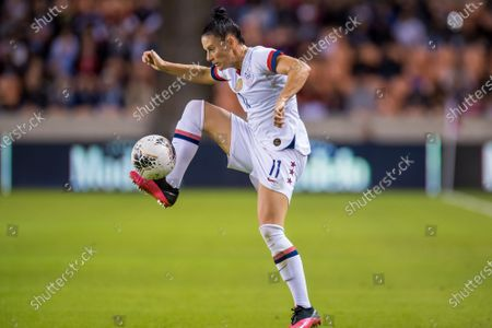 United States defender Ali Krieger (11) controls the ball during the 1st half of a CONCACAF Olympic Qualifying soccer match between Costa Rica and the United States of America at BBVA Stadium in Houston, TX. The United States won the game 6 to 0