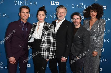 "Jessica Biel, Matt Bomer, Bill Pullman, Parisa Fitz-Henley, Chris Messina. Matt Bomer, from left, Jessica Biel and Bill Pullman, Chris Messina and Parisa Fitz-Henley arrive at the Los Angeles premiere of ""The Sinner"" Season 3 at The London West Hollywood on"