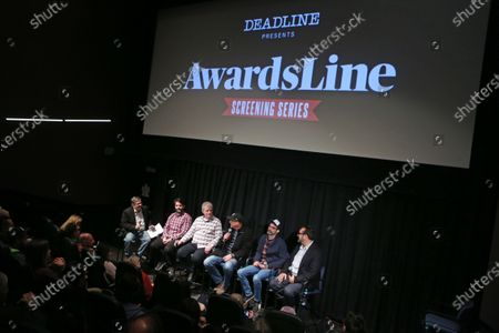 Moderator Anthony Dalessandro, Steven A. Morrow, Don Sylvester, Michael McCusker, Andrew Buckland and Director James Mangold