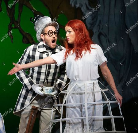 Claudia Boyle as Alice, Sam Furness as Mad Hatter