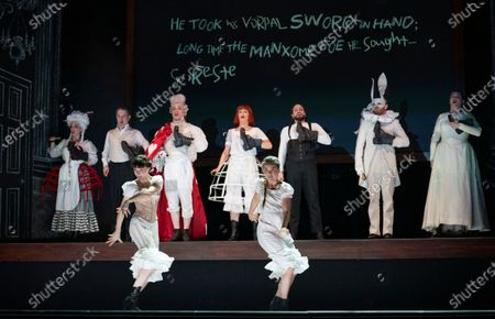 Stock Picture of Centre  Claudia Boyle as Alice,