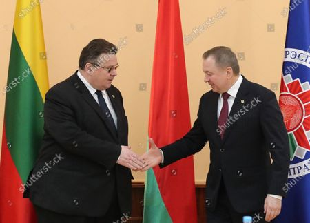 Editorial photo of Minister of Foreign Affairs of Lithuania Linas Antanas Linkevicius in Minsk, Belarus - 04 Feb 2020