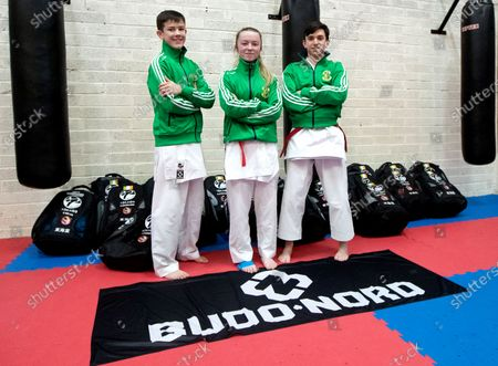 The Sport Ireland & Olympic Federation of Ireland recognised karate team will tomorrow travel to Budapest, Hungary to compete at the World Karate Federation U21 & Junior European Championships. Part of the squad are the Cork McCarthy twins, Sean and Chris. Sean is a Youth Olympic bronze medallist from Buenos Aires and Chris is reigning European Junior gold medallist. Pictured is Anthony Kelly, Cadet Kumite Male -52kg, Abby Rose Byrne, U21 Kumite Female 61kg and Conor Kolohan, Cadet Kata Male