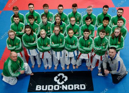 The Sport Ireland & Olympic Federation of Ireland recognised karate team will tomorrow travel to Budapest, Hungary to compete at the World Karate Federation U21 & Junior European Championships. Part of the squad are the Cork McCarthy twins, Sean and Chris. Sean is a Youth Olympic bronze medallist from Buenos Aires and Chris is reigning European Junior gold medallist. Pictured is the Ireland team ahead of the 47th EKF Junior & Cadet and U21 Championships in Budapest with coach John Connolly and Eoin Wallace, Budo-Nord