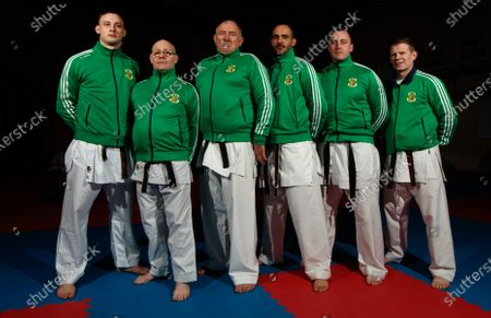 Stock Photo of The Sport Ireland & Olympic Federation of Ireland recognised karate team will tomorrow travel to Budapest, Hungary to compete at the World Karate Federation U21 & Junior European Championships. Part of the squad are the Cork McCarthy twins, Sean and Chris. Sean is a Youth Olympic bronze medallist from Buenos Aires and Chris is reigning European Junior gold medallist. Pictured are (L-R) Tom Hickman, Stephen O'Callaghan, John Connolly, Rodolfe Rodriguez, Ronan Flynn and Mark Sheridan