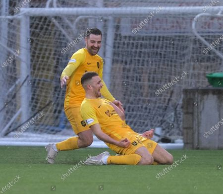 Stock Photo of Aaron Taylor-Sinclair of Livingston heads home the only goal of the game