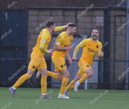 Stock Image of Aaron Taylor-Sinclair of Livingston heads home the only goal of the game