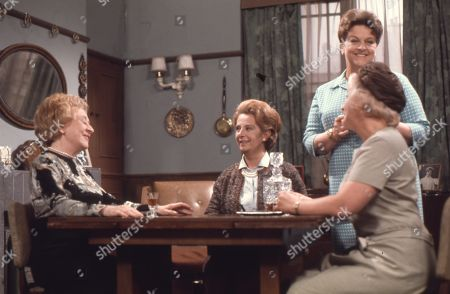 Doris Speed (as Annie Walker), Barbara Lott (as Ethne Willoughby), Betty Driver (as Betty Turpin) and Mollie Sugden (as Nellie Harvey)