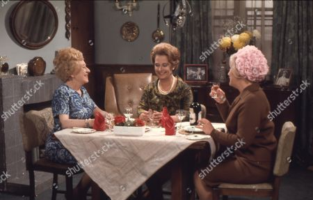 Doris Speed (as Annie Walker), Barbara Lott (as Ethne Willoughby) and Mollie Sugden (as Nellie Harvey)