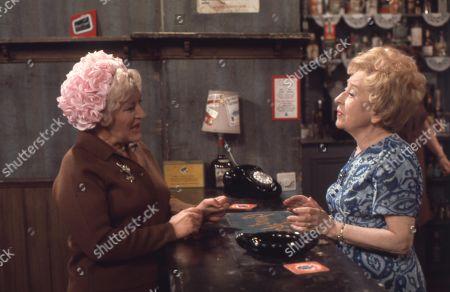 Mollie Sugden (as Nellie Harvey) and Doris Speed (as Annie Walker)