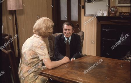 Irene Sutcliffe (as Maggie Clegg) and Eric Lander (as Ron Cooke)