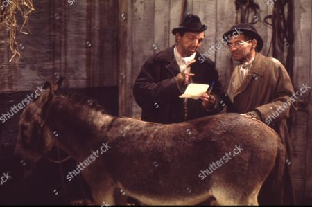 Dirty Dick and Tommy Deakin reopen the viaduct stables for their donkey Dolores. Paddy Joyce (as Tommy Deakin) and Talfryn Thomas (as Dirty Dick)