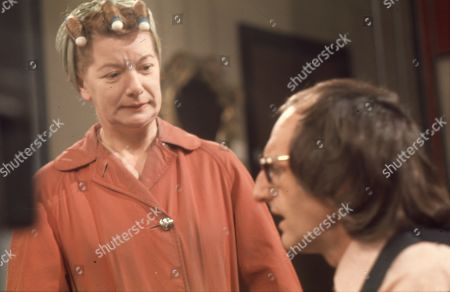 Jean Alexander (as Hilda Ogden) and Jeremy Young (as Benny Lewis)