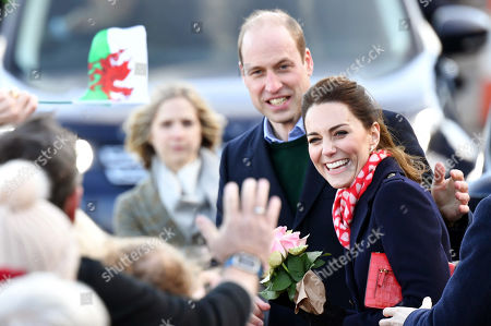 Catherine Duchess of Cambridge and Prince William visit to RNLI Mumbles Lifeboat Station, Swansea