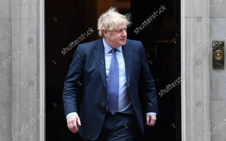 British Prime Minister Boris Johnson prepares to welcome the Sultan of Brunei Hassanal Bolkiah (not pictured) to 10 Downing Street in London, Britain, 04 February 2020.