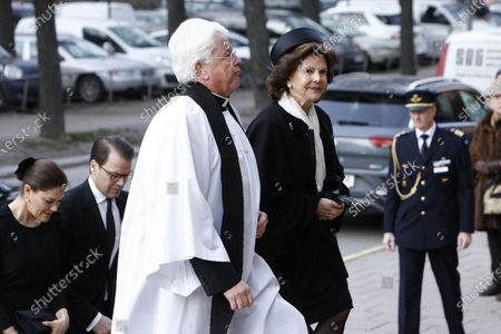 Editorial photo of Funeral of Dagmar von Arbin, Oscars Church, Stockholm, Sweden - 04 Feb 2020