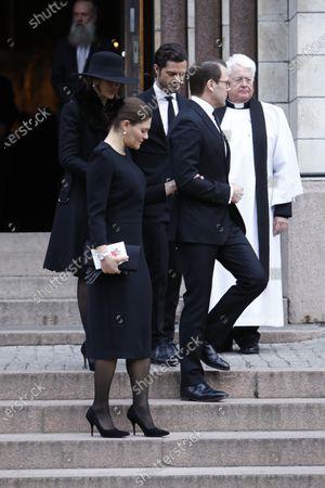 Crown Princess Victoria, Prince Daniel, Princess Sofia of Sweden, Prince Carl Philip and the Vicar Hans Rhodin