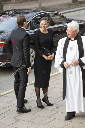 Stock Picture of Prince Daniel, Crown Princess Victoria and Vicar Hans Rhodin