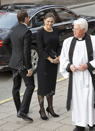 Stock Photo of Prince Daniel, Crown Princess Victoria and Vicar Hans Rhodin