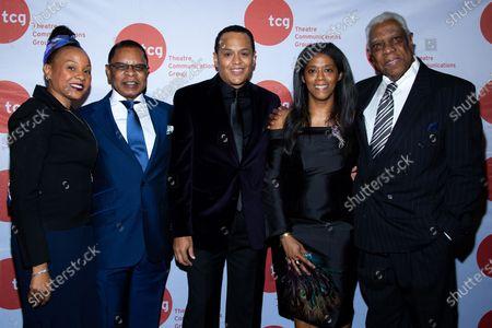 Stephen Byrd, Alia Jones-Harvey, Woodie King Jr. and guests
