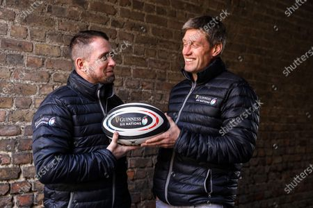 Editorial photo of Ronan O'Gara and Shane Williams Host The Second GUINNESS SIX NATIONS Experience Ahead of Ireland vs Wales - 04 Feb 2020