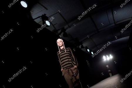 A model presents some of the creations by Spanish fashion brand Txell Miras during the second day of the 25th 080 Barcelona Fashion in Barcelona, Catalonia, Spain, 04 February 2020. The 080 Barcelona Fashion runs from 03 to 06 February 2020.