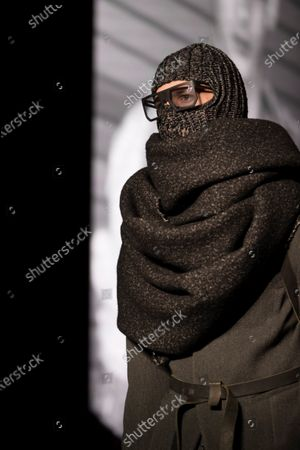 A model presents some of the creations by German-Iranian fashion designer Boris Bidjan Saberi during the second day of the 25th 080 Barcelona Fashion in Barcelona, Catalonia, Spain, 04 February 2020. The 080 Barcelona Fashion runs from 03 to 06 February 2020.