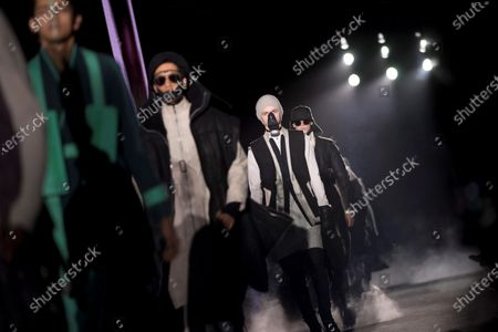 Several models present the creations by German-Iranian fashion designer Boris Bidjan Saberi during the second day of the 25th 080 Barcelona Fashion in Barcelona, Catalonia, Spain, 04 February 2020. The 080 Barcelona Fashion runs from 03 to 06 February 2020.