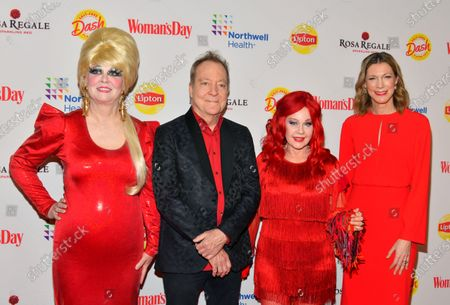 Stock Picture of Cindy Wilson, Fred Schneider, Kate Pierson and Susan Spencer