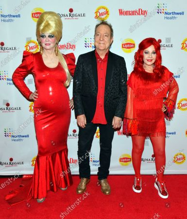 Stock Image of Cindy Wilson, Fred Schneider and Kate Pierson