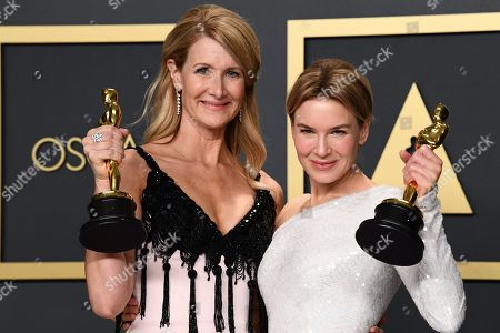 Laura Dern - Supporting Actress - Marriage Story and Renee Zellweger - Leading Actress - Judy