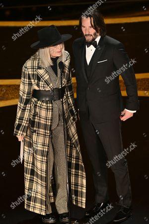 Diane Keaton and Keanu Reeves