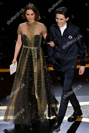 Natalie Portman and Timothee Chalamet