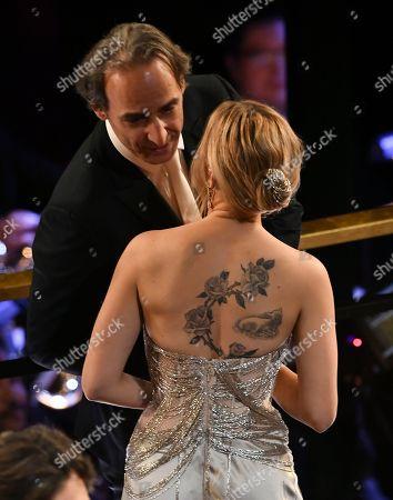 Alexandre Desplat and Scarlett Johansson