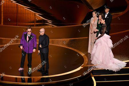 Sir Elton John and Bernie Taupin - Original Song - IÕm Gonna Love Me Again - Rocketman, Brie Larson, Sigourney Weaver and Gal Gadot