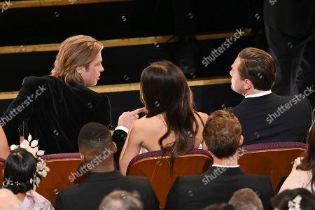 Brad Pitt, Camila Morrone and Leonardo DiCaprio