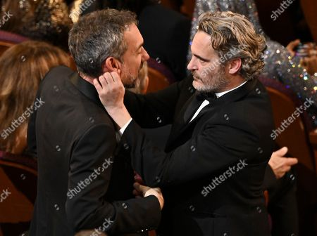 Stock Picture of Todd Phillips and Joaquin Phoenix
