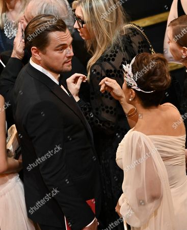 Stock Picture of Leonardo DiCaprio and Salma Hayek