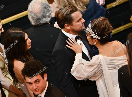 Stock Photo of Camila Morrone, Leonardo DiCaprio and Salma Hayek