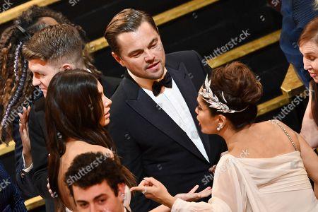 Camila Morrone, Leonardo DiCaprio and Salma Hayek
