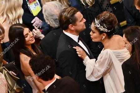 Stock Image of Camila Morrone, Leonardo DiCaprio and Salma Hayek