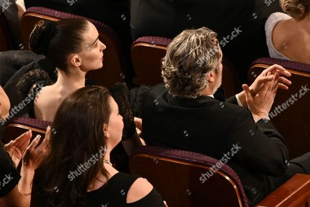 Stock Picture of Rooney Mara and Joaquin Phoenix