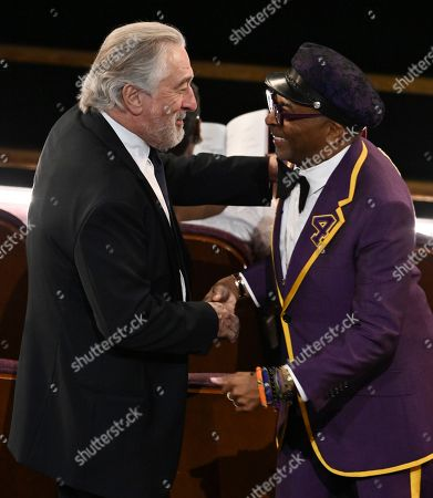 Stock Photo of Robert De Niro and Spike Lee