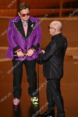 Stock Photo of Sir Elton John and Bernie Taupin - Original Song - I'm Gonna Love Me Again - Rocketman