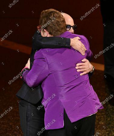 Stock Picture of Sir Elton John and Bernie Taupin - Original Song - I'm Gonna Love Me Again - Rocketman