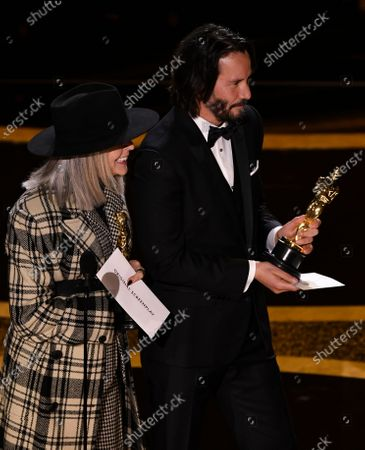 Stock Image of Diane Keaton and Keanu Reeves
