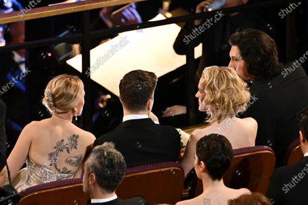 Scarlett Johansson, Colin Jost, Joanne Tucker and Adam Driver