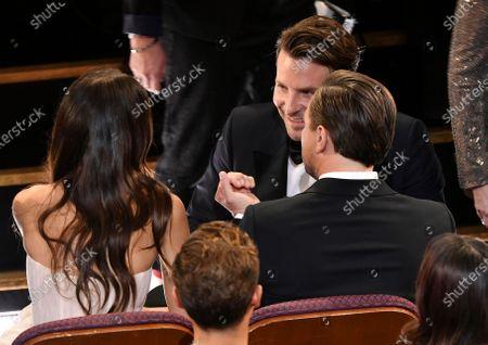 Stock Picture of Camila Morrone, Bradley Cooper and Leonardo DiCaprio