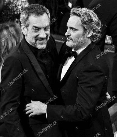 Stock Photo of Todd Phillips and Joaquin Phoenix